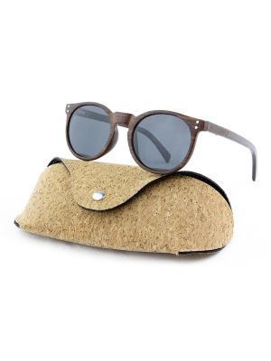 Модные солнцезащитные очки Lumo. Цвет: черный