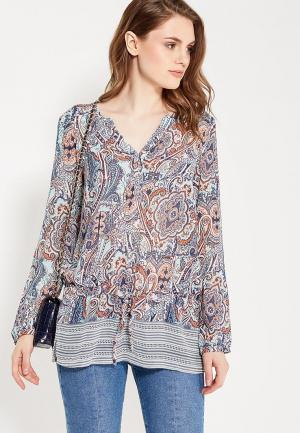 Блуза oodji. Цвет: разноцветный