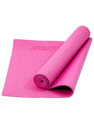 Коврик для йоги STARFIT FM-101 PVC 173x61x0,5 см, розовый. Цвет: розовый