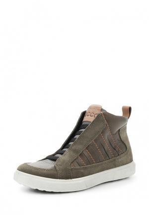 Ботинки CADEN ECCO. Цвет: зеленый