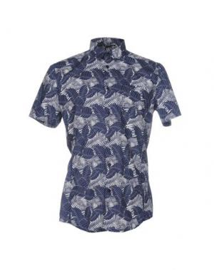 Pубашка BIKKEMBERGS. Цвет: синий