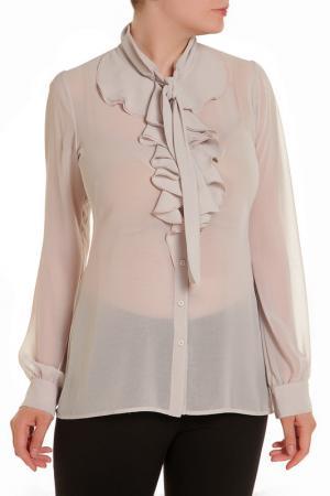 Блуза D.Exterior. Цвет: светло-серый