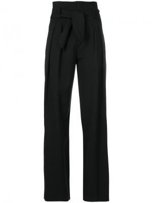 Широкие брюки с поясом Iro. Цвет: чёрный