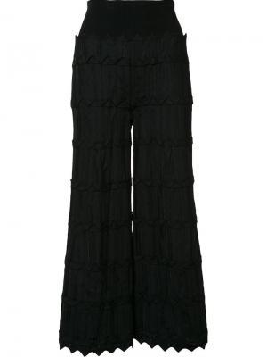 Расклешенные укороченные брюки Pepa Pombo. Цвет: чёрный