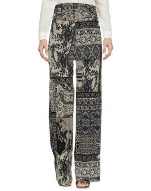 Повседневные брюки FUZZI. Цвет: светло-зеленый