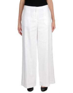 Повседневные брюки PURIFICACION GARCIA. Цвет: белый