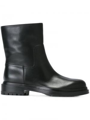 Кожаные ботинки Sergio Rossi. Цвет: чёрный