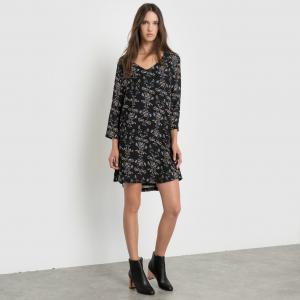 Платье с рисунком SUNCOO. Цвет: черный наб. рисунок