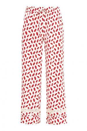 Расклешенные брюки с принтом P.A.R.O.S.H.. Цвет: белый