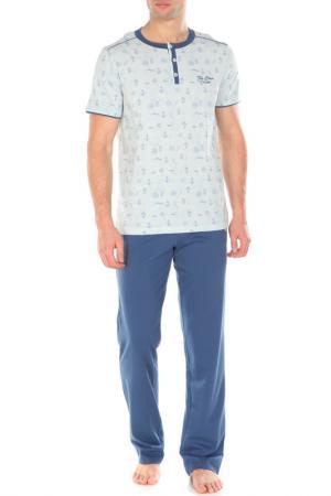 Пижама с брюками Relax Mode. Цвет: индиго