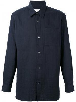 Классическая однотонная рубашка Études. Цвет: синий