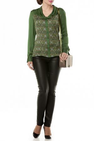 Блузка E.LEVY. Цвет: зеленый