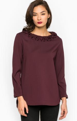 Блуза POIS. Цвет: бордовый