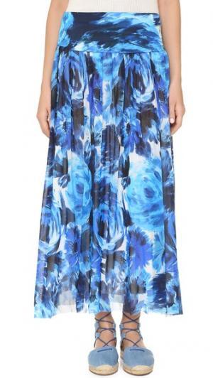 Принтованная юбка Fuzzi. Цвет: синий мульти