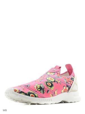 Кроссовки-слипоны ZX Flux ADV Smooth Slip-on Shoes Adidas. Цвет: розовый