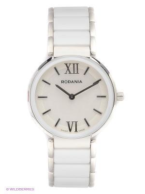 Часы RODANIA. Цвет: белый, серебристый