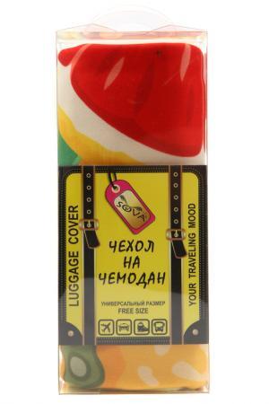 Чехол на чемодан SOVA COVER. Цвет: цитрус
