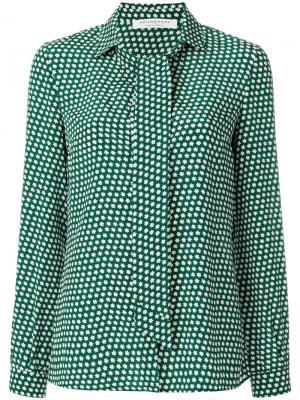 Блузка с длинными рукавами и звездным принтом Philosophy Di Lorenzo Serafini. Цвет: зелёный