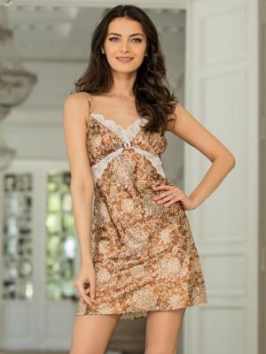 Ночная сорочка MIA-AMORE. Цвет: светло-коричневый
