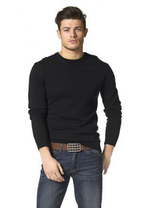 Пуловер JOHN DEVIN. Цвет: светло-серый меланжевый, темно-синий