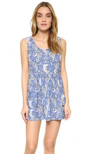 Платье Beach Binge Barber. Цвет: голубой
