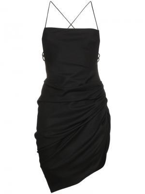 Платье мини с открытой спиной Jacquemus. Цвет: чёрный