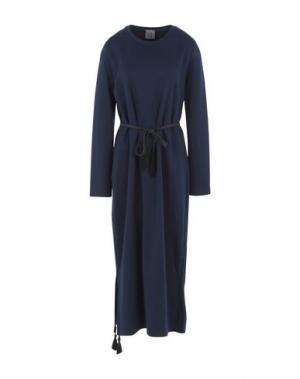 Длинное платье OBLÒ® UNIQUE. Цвет: темно-синий