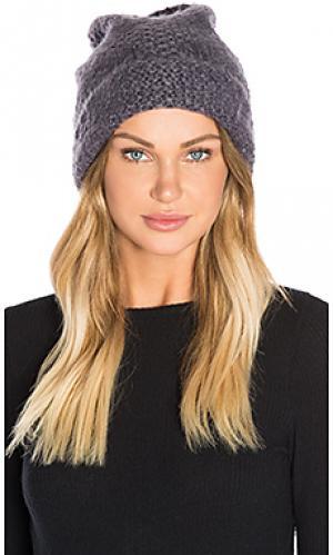 Мягкая мешковатая шапочка с манжетом Hat Attack. Цвет: серый