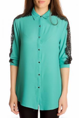 Блуза GAZOIL. Цвет: green
