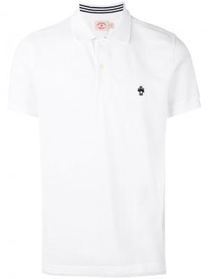 Классическая футболка-поло Brooks Brothers. Цвет: белый