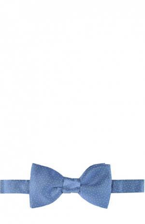 Галстук-бабочка Lanvin. Цвет: голубой