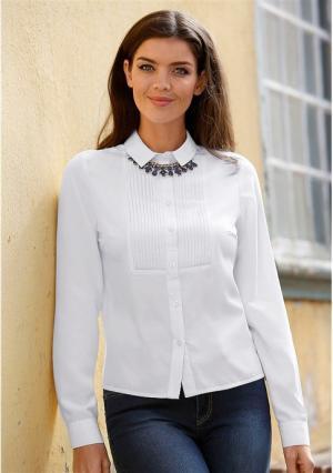 Блузка MY STYLE. Цвет: белый