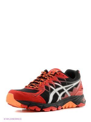 Кроссовки GEL-FujiTrabuco 4 ASICS. Цвет: красный, серебристый, черный