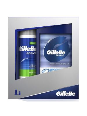 Подарочный набор Gillette Mach3 (Бритва + Полотенце с логотипом). Цвет: серый