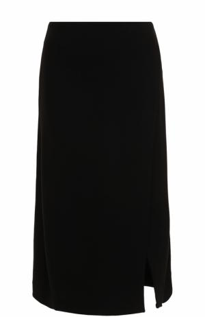 Юбка-миди со складкой Etre Cecile. Цвет: черный