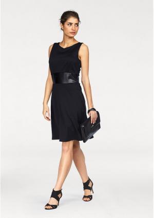 Платье BRUNO BANANI. Цвет: черный, черный/цвет белой шерсти с рисунком