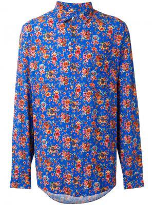 Рубашка с цветочным принтом Our Legacy. Цвет: синий