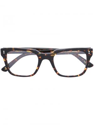 Очки Zayde Moscot. Цвет: коричневый