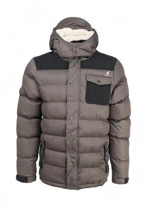 Куртка утепленная Kangol. Цвет: серый