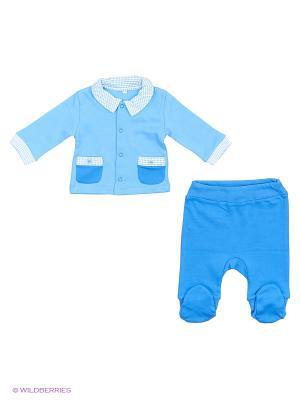 Комплект Мишка Джентельмен Soni kids. Цвет: голубой