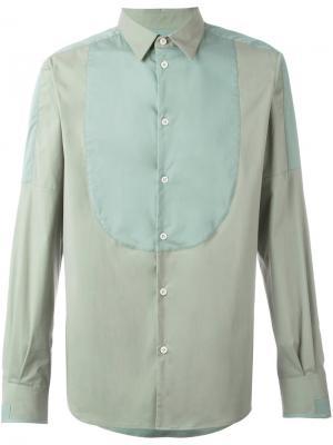 Рубашка с панельным дизайном Al Duca D'Aosta 1902. Цвет: зелёный
