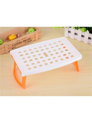 Пластиковая подставка для микроволновой печи Плюстарелка RUGES. Цвет: оранжевый, белый