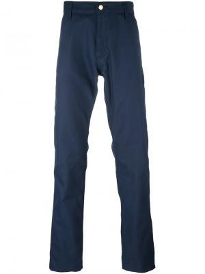 Прямые брюки Carhartt. Цвет: синий