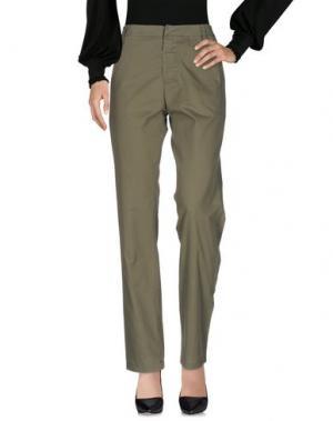 Повседневные брюки LAURENCE DOLIGÉ. Цвет: зеленый-милитари