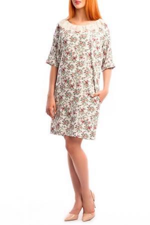 Платье MoNaMod. Цвет: белый