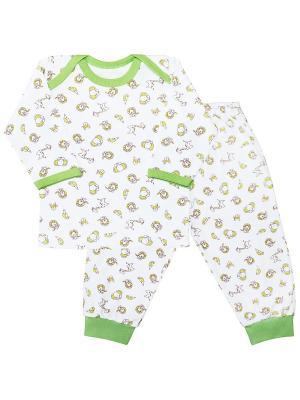 Пижама Веселый малыш. Цвет: салатовый, желтый, белый