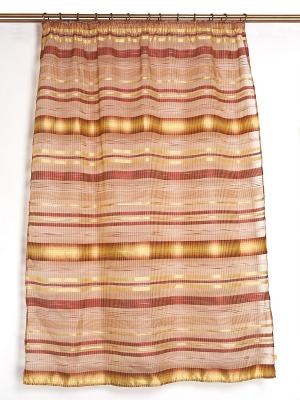 Кухонные шторы Рикко DAILY by TOGAS. Цвет: золотистый, терракотовый