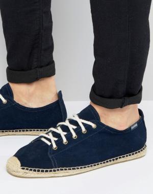 Soludos Эспадрильи на шнуровке. Цвет: темно-синий