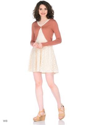 Болеро Vero moda. Цвет: коралловый