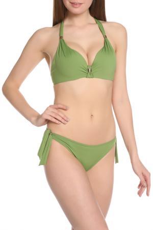 Купальный костюм Nicole Olivier. Цвет: зеленый